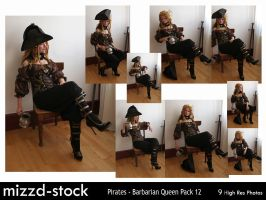 Pirates - Barbarian Queen pack 12 by mizzd-stock