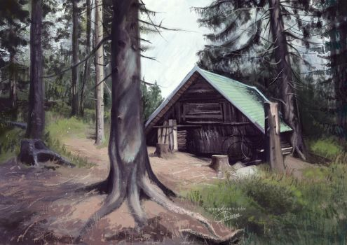 cabin in the woods by margaw