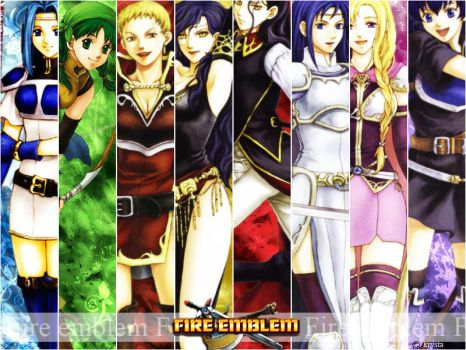 Wall Fire emblem 7 girls V.2 by Creamia