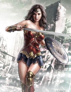 Wonder Woman - Gal Gadot by RaffaeleMarinetti