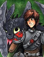 Hiccup and Toothless HTTYD 2 by ArachRoy
