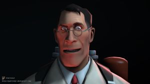 SFM Poster: Meet The Medic -Red- by PatrickJr