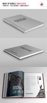 Hard Cover Book Mock-up by TonyB3