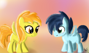Soarin and Spitfire Filly and colt by JuBrony