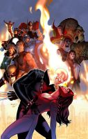 Uncanny Avengers Annual variant cover by PaulRenaud