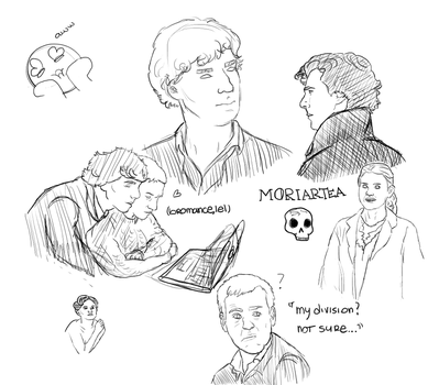 Sherlock doodles (old account drawing #2) by sparklingarse