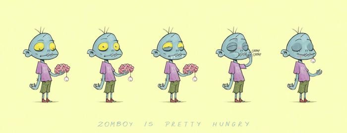 Zomboy is pretty hungry by Entropician