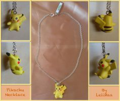 Pokemon Pikachu Necklace by LeiiMaa