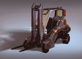 Forklift Gustaf IX concept by Talros