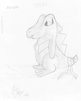 Totodile - Worried by Sc0t1n4t0r