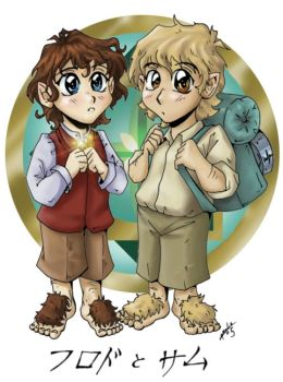Anime Hobbits Frodo and Sam by Amelie-ami-chan