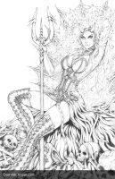 Penny for Your Soul: Danica 'Throne' - Pencils by Dawn-McTeigue