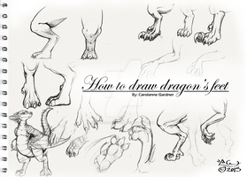 How to draw dragons feet by SpiraxDracowolf