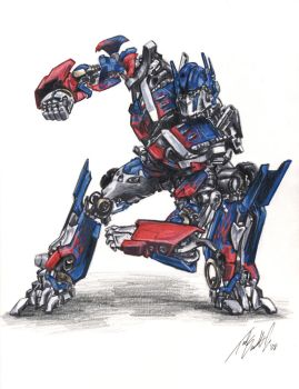 Optimus Prime by tdastick