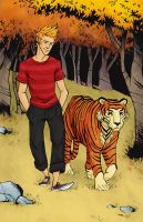 Calvin and Hobbes by mscorley