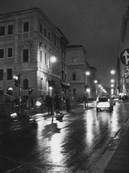 Night life in Rome, Italy by UnfamiliarSilhouette