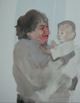 old lady with a child by petersulo