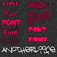 Pack de Fonts by AnotherLiife