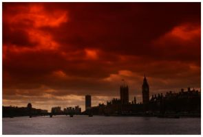 Under a Red Sky... by Waterlilynl