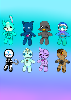 Devil plushies  [ OPEN ADOPTS ] by CyberSlime1302