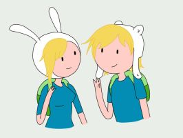 Fionna and Finn by AlwaysForeverHailey