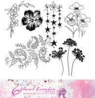 Floral brushes 2 - 0201 by Missesglass