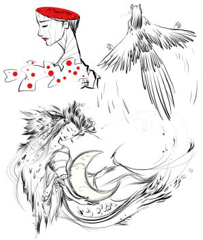 Scetches by AnnaKemushi