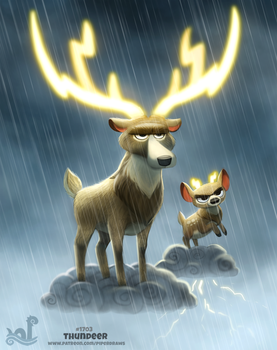 Daily Painting 1703# Thundeer by Cryptid-Creations