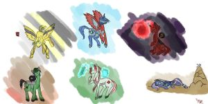 Pony!Formers(tfp)- Batch 1 - Bots and K.O. by Temarigirl1600