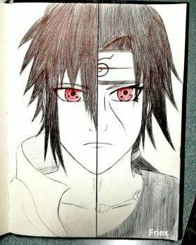 Sasuke and Itachi by vfriex