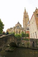 Exterior of Brugge Cathedral by Lissou-photography
