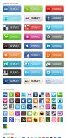 Social Media Bookmark Icon + by nouveller