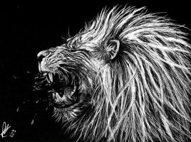 white lion by Paintpaul