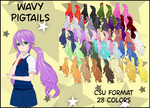 Wavy Pigtails by BellaMbrianna