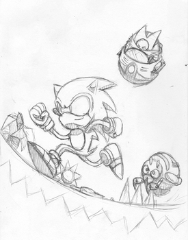 Sonic Cover Art Sketch by rangeTE