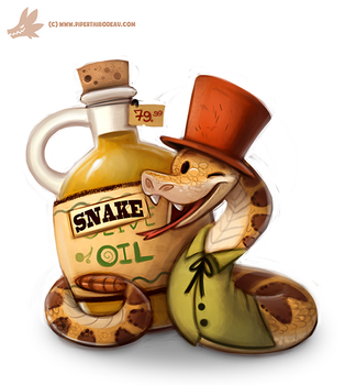 Daily Paint #1082. Snake Oil Salesman by Cryptid-Creations