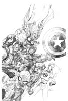 Secret Invasion variant pencil by leinilyu