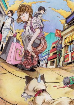 Shopping district by DRAB-APPLE
