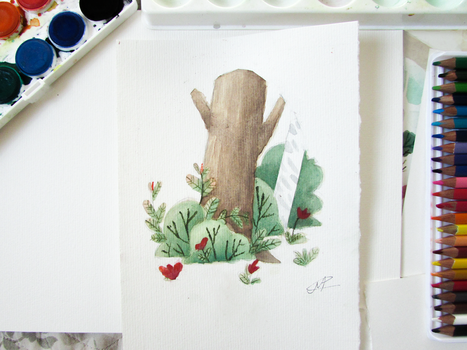 Nature Watercolor painting by MarcoAntonioMoreira
