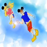 Anime Mickey and Minnie by Blivitis