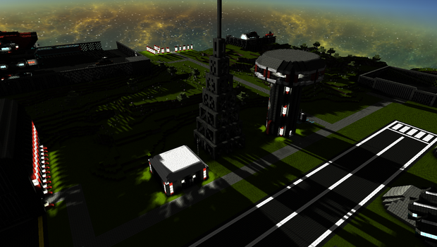 StarMade - Zoro's Radio Tower and Control Building by thakyZ