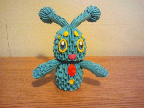 3D Origami Manaphy by pokegami
