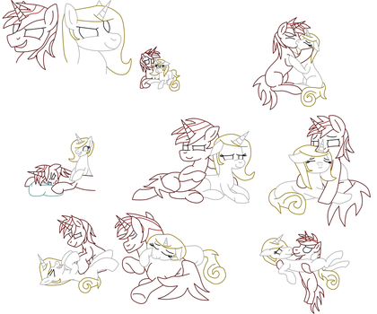 2 Years Of Dating FD-Daylight (Lined Sketches) by JezzaRat