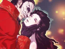 The angel kisses with the red death. by RyukiGaryu