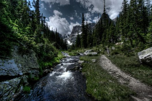 Rocky Mtn Stream by abstractxposure