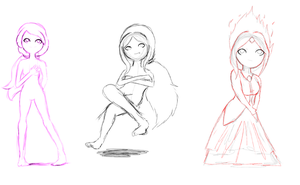 Adventure Time Girls :Rough: by Spencer-Bowen