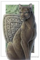 Wild Cat Cards - Black Leopard by synnabar