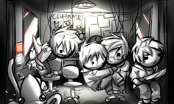 Five Gang's at Freddy's by SufferingSquids