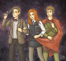 Doctah and the Ponds by Bluellu