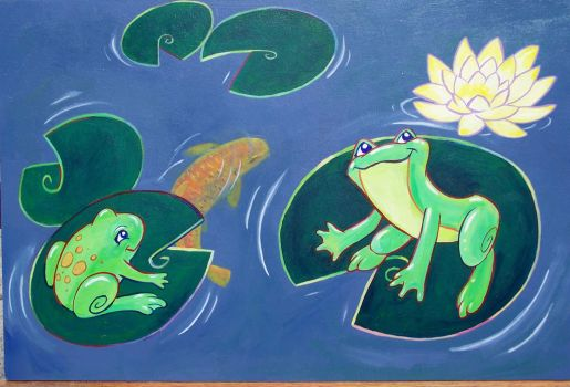 Lilies and frogs by motterhorn